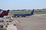 KLM B777-306ER (PH-BVD) pushback at Amsterdam Airport Schiphol in 2018 (2).jpg