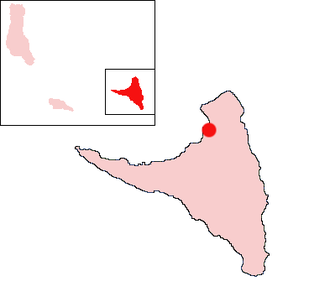 Ouani - Location of Ouani on the island of Anjouan