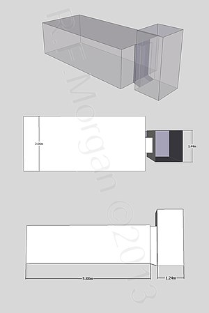 KV51 - Isometric, plan and elevation images of KV51 taken from a 3d model