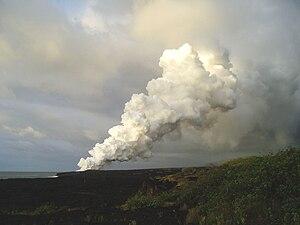 Puna, Hawaii - Image: Kalapana Plume 2008