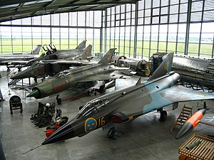 Deutsches Museum Flugwerft Schleissheim - Cold War jet aircraft on display