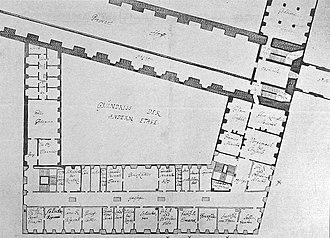 Johan Conrad Ernst - Ernst's plan for the Slotsholmen Chancery Building