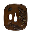Kano Natsuo - Tsuba with a Hawk Stalking a Monkey - Walters 51100.jpg