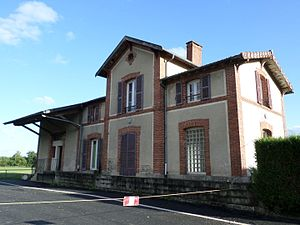 Caurel, Côtes-d'Armor - The old train station in Caurel