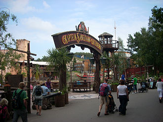 Kristiansand Zoo and Amusement Park - The gates to Captain Sabertooth World