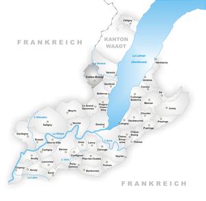 Collex-Bossy - Image: Karte Gemeinde Collex Bossy