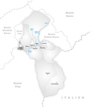 Eggerberg - Image: Karte Gemeinde Eggerberg