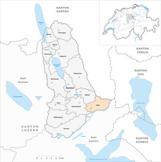 Inwil - Image: Karte Gemeinde Inwil 2009
