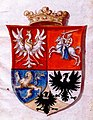 Kazimier Jagajłavič, Pahonia. Казімер Ягайлавіч, Пагоня (XVII).jpg