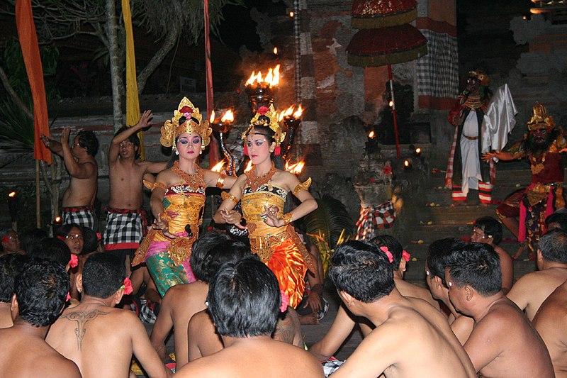 File:Kecak in Pura Dalem Ubud 1.jpg