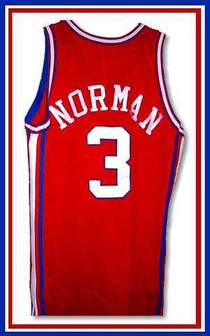 Ken Norman, the Clippers' scoring leader in 1988-89, was a key part of the team's nucleus during the late 1980s and early 1990s Ken Norman jersey.jpg