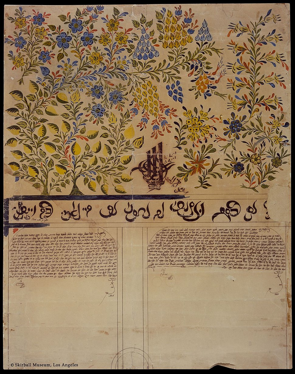 Ketubah from Romania