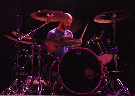 Kevin Fender replaced founding member Trivett Wingo in 2010 and was the touring drummer for The Sword until 2011. KevinFenderOfTheSword.jpg