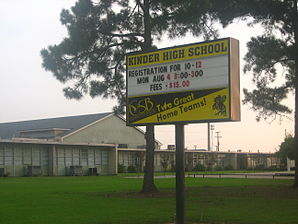 Kinder High School in Kinder, LA IMG 1073.JPG