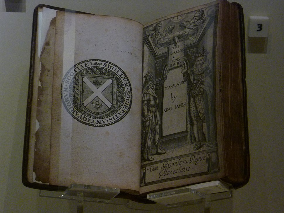 King David Book of Psalms from the reign of James VI
