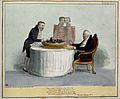 King William IV sits with knife and fork at the ready before Wellcome V0050227.jpg