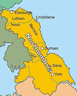 Extent of Northumbria in 800