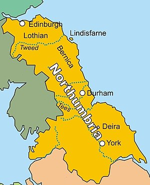 Kingdom of Northumbria - Image: Kingdom of Northumbria in AD 802