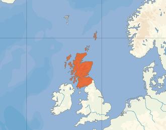 Karte des Königreichs Schottland
