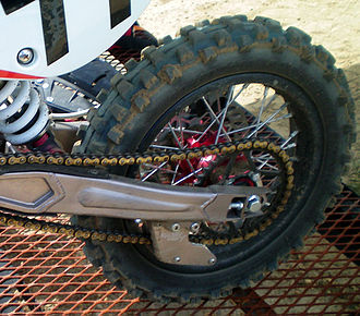 Off-road tire - Knobby tire on a 2008 Motovert pit bike.