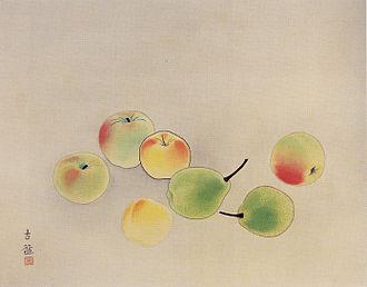 Nihonga - Fruit by Kobayashi Kokei (1910)