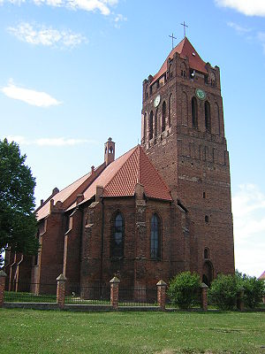 Prabuty - Cathedral in Prabuty (1st half of 14th century)