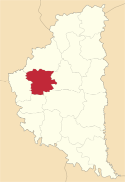 Location of Kozovas rajons
