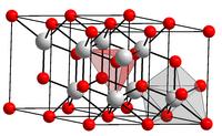 Kristallstruktur von Cer(III)-oxid