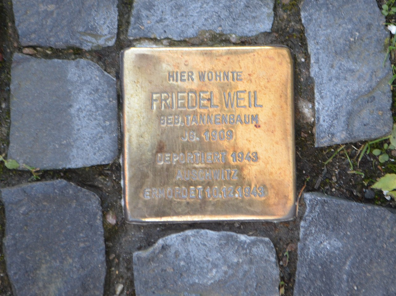 Kronberg, Grabenstraße 7, Stolperstein Friedel Weil