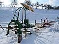 Krone-Einkreiselschwader Swadro 395 im Neuschnee.jpg