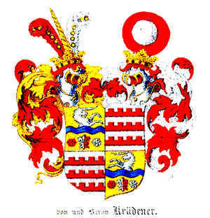 Amalie Adlerberg - Arms of the Krüdener family
