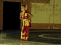 Kuchipudi dance performance by a girl at Shilparamam Jaatara.JPG