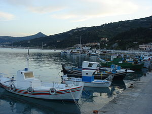 Small Port in Kymi, Euboea, Greece