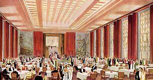 SS L'Atlantique - The first class dinning room