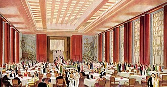 SS L'Atlantique - The first class dinning room