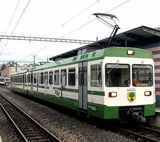 Échallens - A train of the Lausanne-Échallens-Bercher (LEB) line