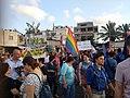 LGBT Potesting in Old Bus Station, south Tel Aviv 2.jpg