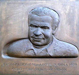 Vladimír Menšík - Memorial plaque in Ivančice