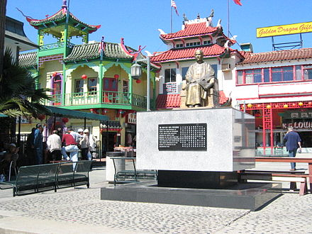 Sun Yat-Sen monument in Chinatown area of Los Angeles, California La-chinatown-sunyatsen2.jpg