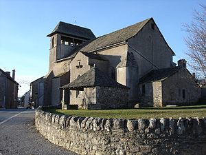 Canet-de-Salars - The church in Canet-de-Salars