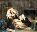 La Mort de Molière, d'après le tableau peint en 1806 par Pierre-Antoine-Augustin Vafflard.png