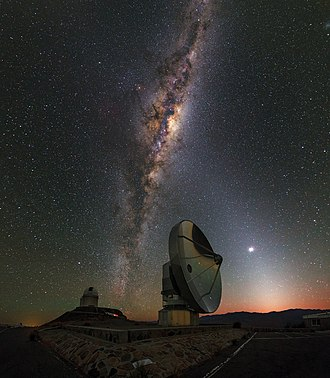 Swedish-ESO Submillimetre Telescope - Image: La Silla Dawn Kisses the Milky Way