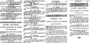 Dom Juan - Image: La scène du pauvre, Paris 1682, deux états