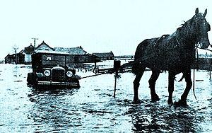 Roberval, Quebec - Flood in Roberval in 1928