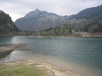 Bellevaux - View of Lac de Vallon towards Bellevaux