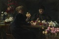 Ladies at a Flower-table (Wilhelm Otto Peters) - Nationalmuseum - 23774.tif
