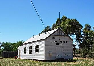 Lake Meran, Victoria - Public hall at Lake Meran