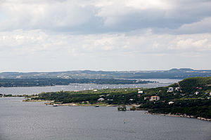 Lake Travis - Image: Lake Travis at Capacity