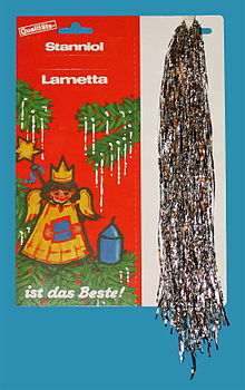 Original lametta (silver foil with tin and lead)