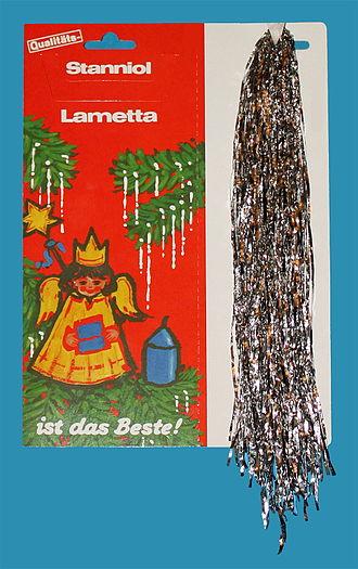 Tinsel - Original lametta (silver foil with tin and lead)